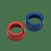 Beskyttelse gummi, rød-blå 2 stk