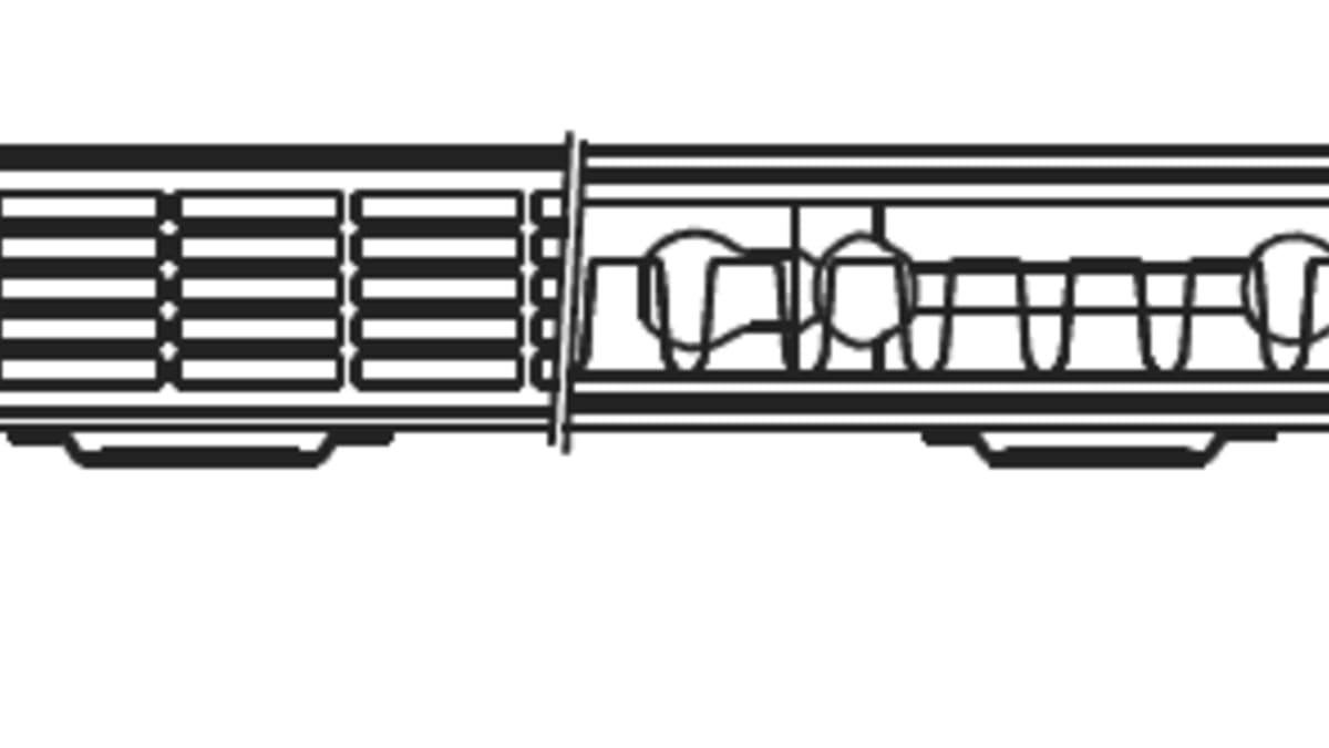 En og et halv panels radiator (21) SF9