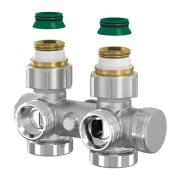 Universal H-ventil for ettrør med avstengning
