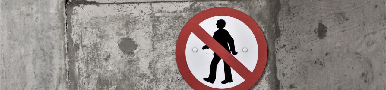 A no walking allowed sign