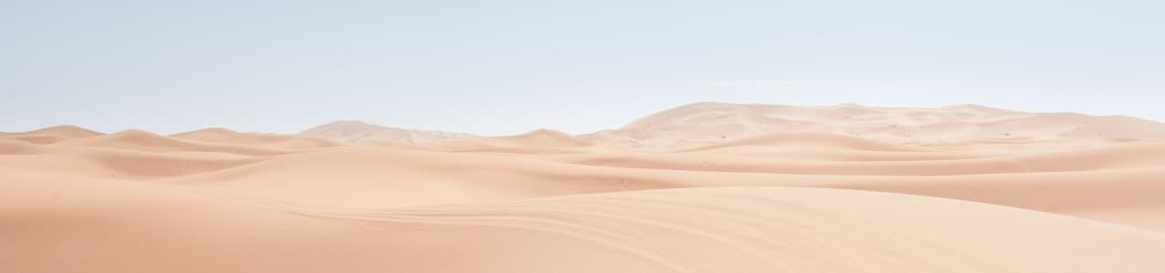 A desert with dunes