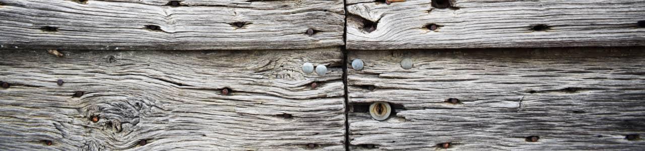 A handle on an old barn door