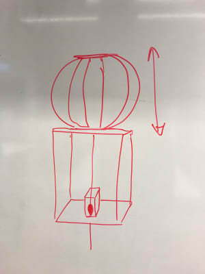 Sketch of our shape changing balloon thingy