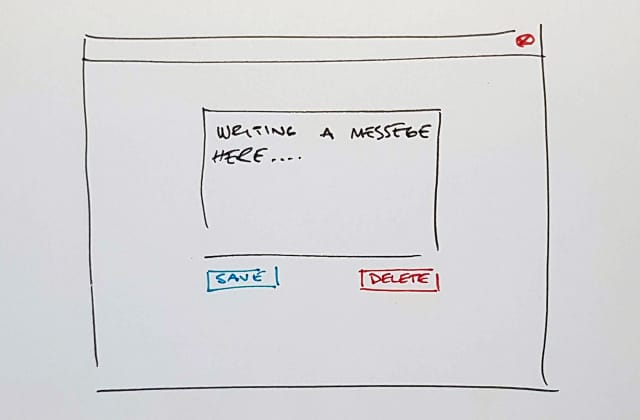 sketch of the GUI we used to test