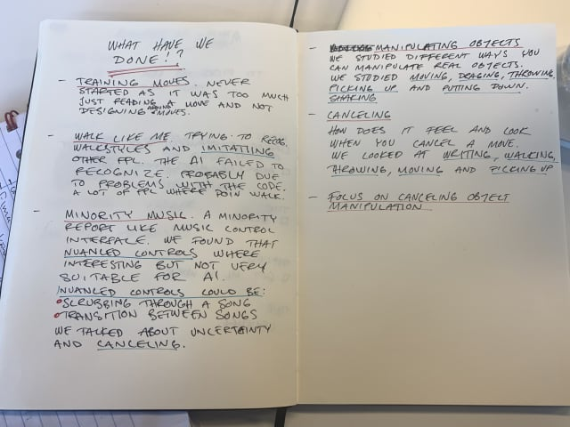Notes on what we have done so far