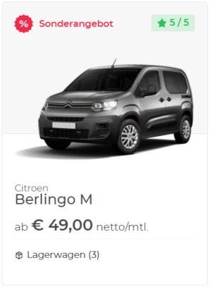 Citroen Berlingo M Leasingangebot