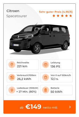 Citroen e-Spacetourer E-Auto Leasing