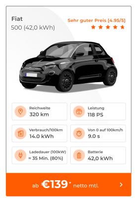 Fiat 500 e E-Auto Leasing