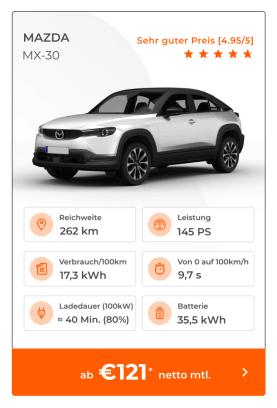 Mazda MX-30 E-Auto Leasing