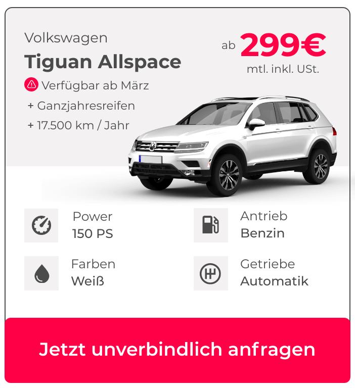 VW Tiguan Allspace Siebensitzer mieten