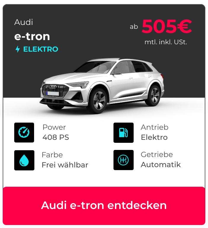 Audi e-tron Angebotskarte