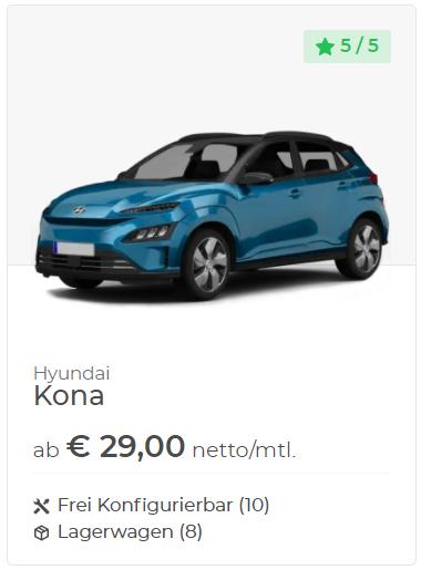 Hyundai Kona Leasing-VEHICULUM-Gewerbeangebot