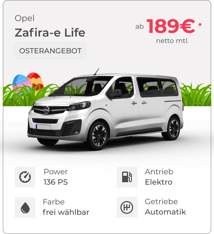 Opel Zafira-e Life VEHICULUM Oster Leasingangebot