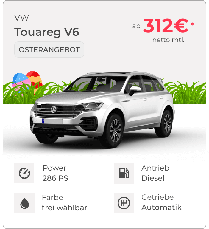 VW Touareg VEHICULUM Oster Leasingangebot