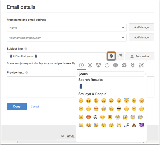 Hubspot subject line emojis