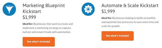 Infusionsoft Kickstart packages
