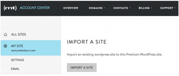 Import a site