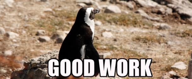 WELL DONE PENGUIN