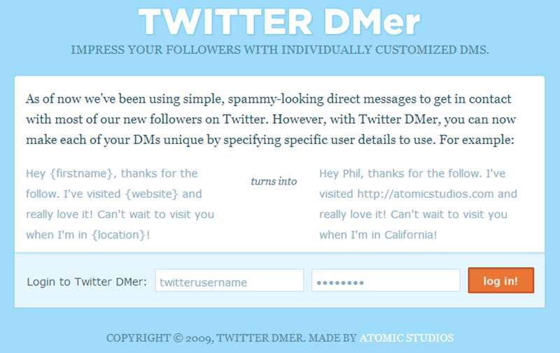 Automatic Direct Messaging Twitter