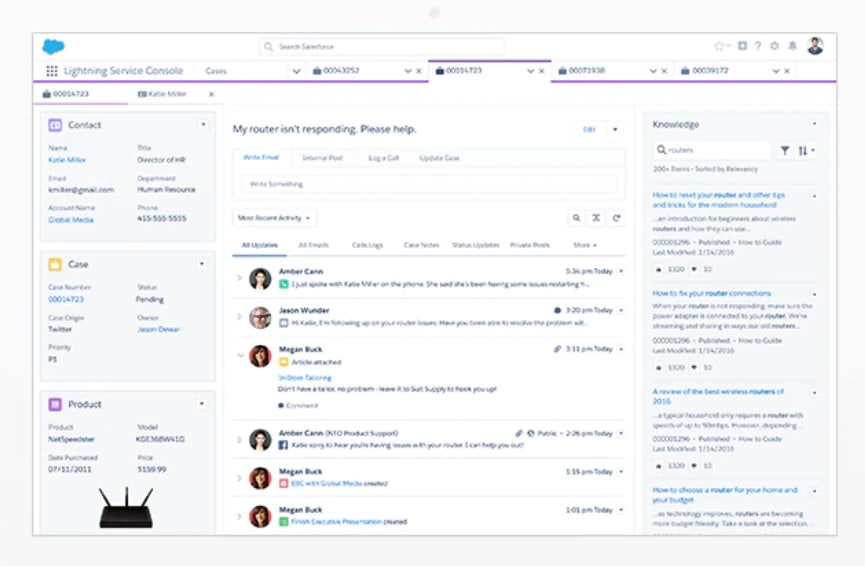 Salesforce's Lightning Service Console
