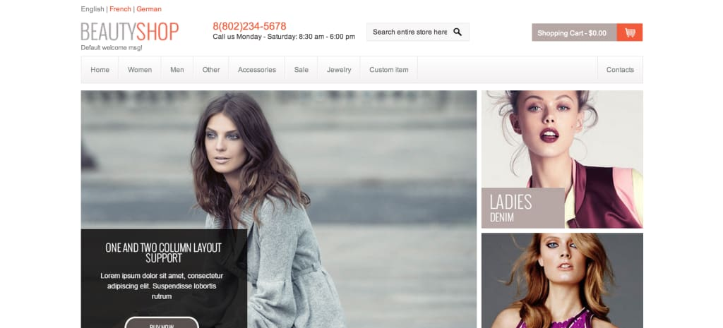 Beauty Shop Magento theme