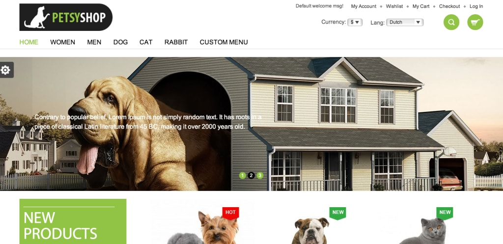 Petsy Shop Magento theme