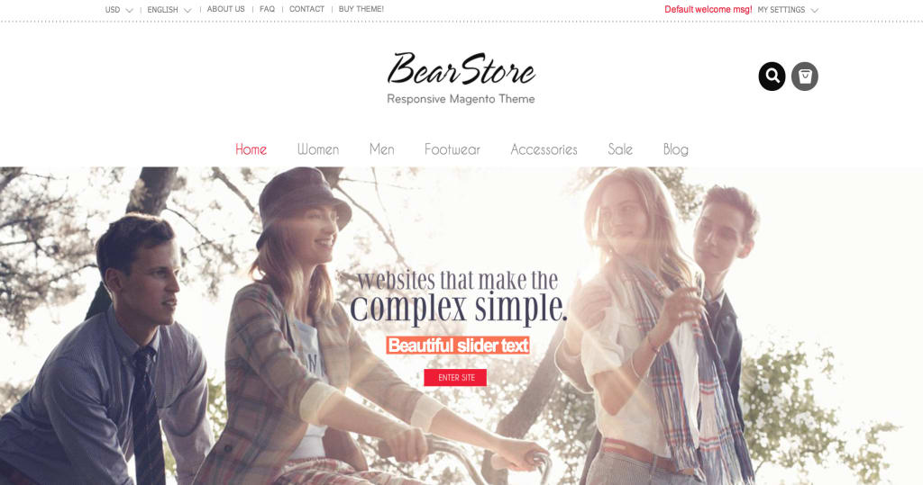 Simple Great Magento theme