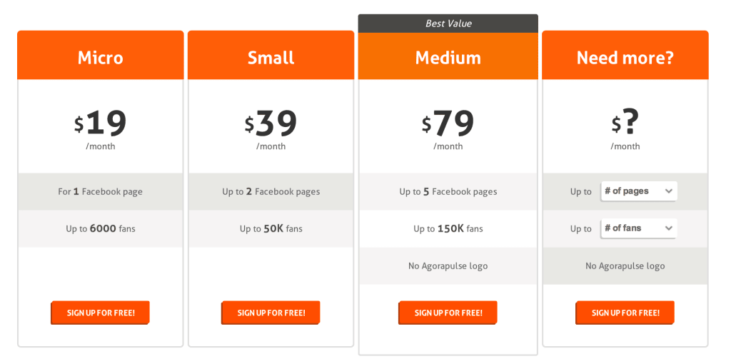 AgoraPulse pricing