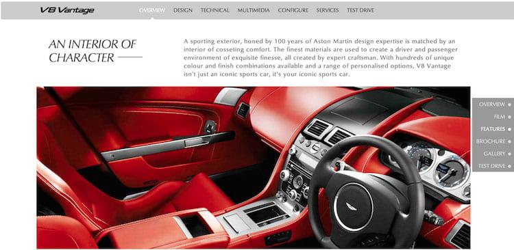 Aston Martin website