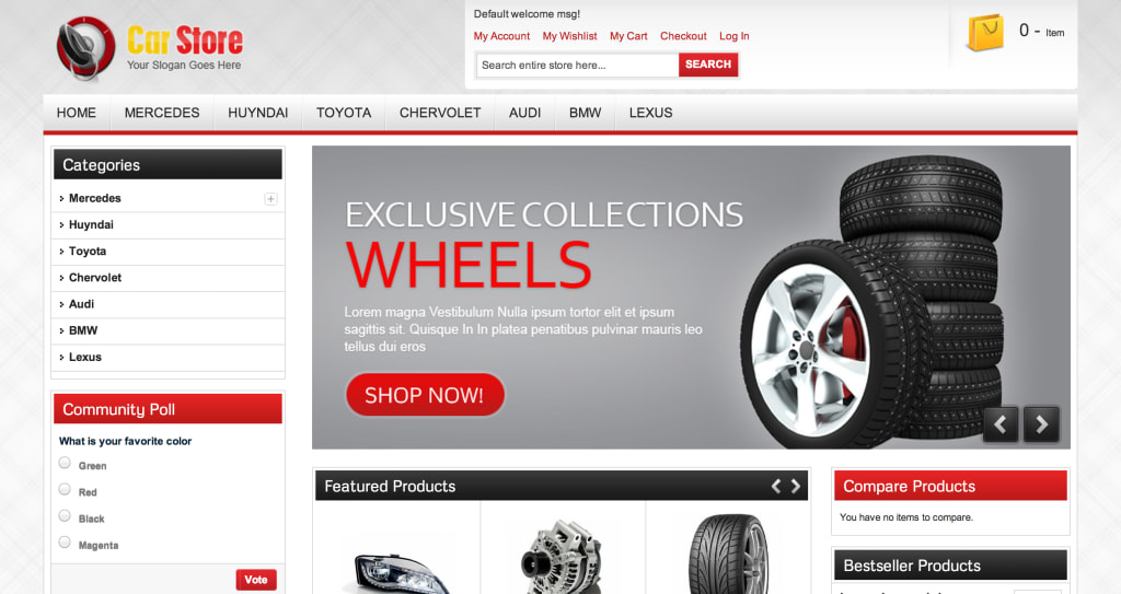 Accessories Car Shop Magento theme