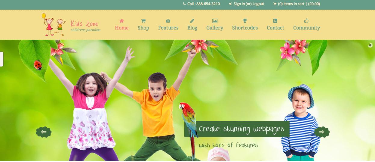KidsZone WP theme