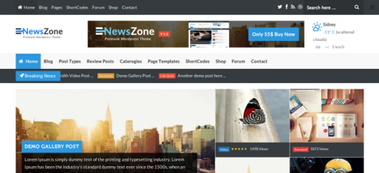 News Zone premium wordpress theme