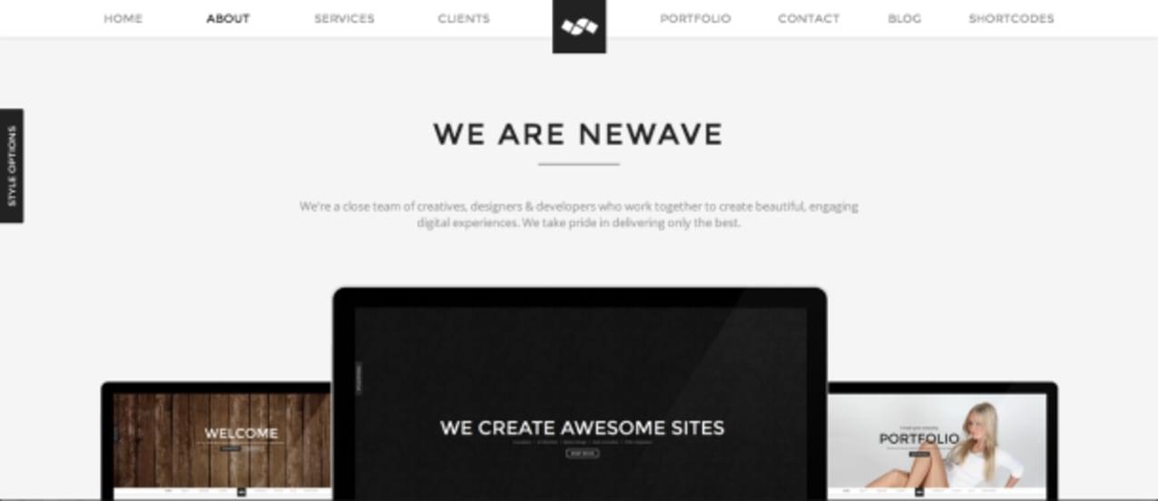 Newave premium wordpress theme