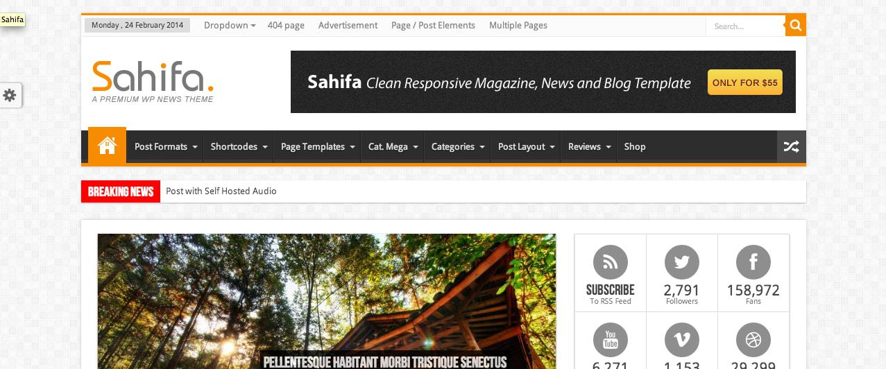 Sahifa premium WP theme