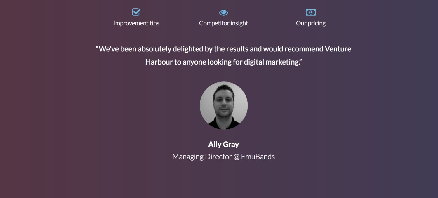 Include testimonials in lead capture pages