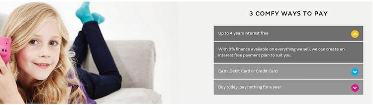 Sofa payment plans