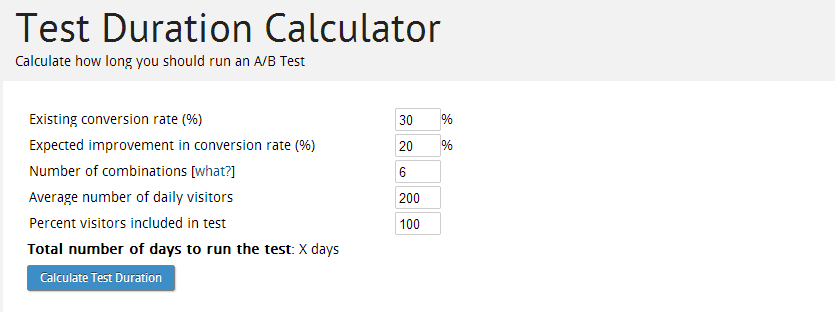 Test-Duration-Calculator