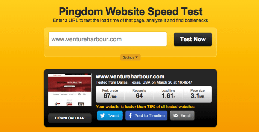 Page Speed Before