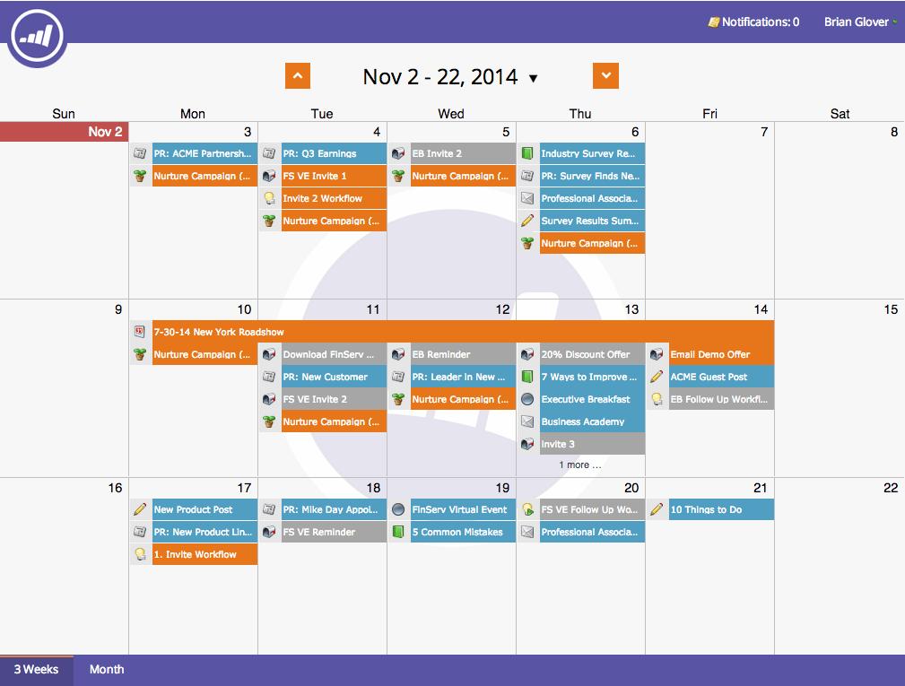 Automation calendar