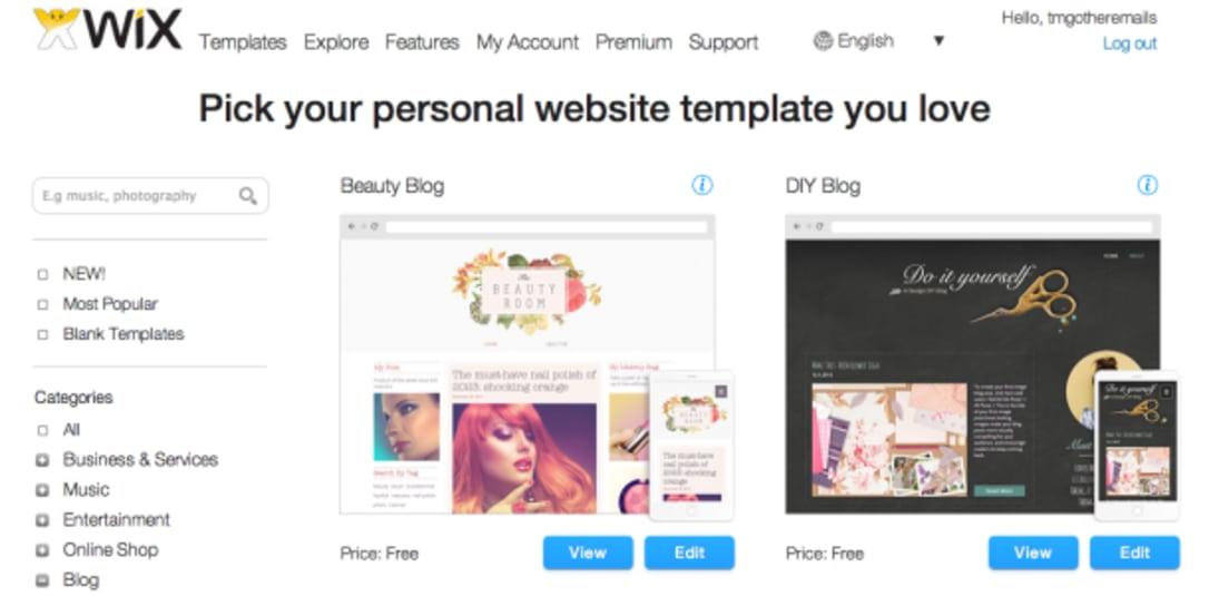 Choose your website design