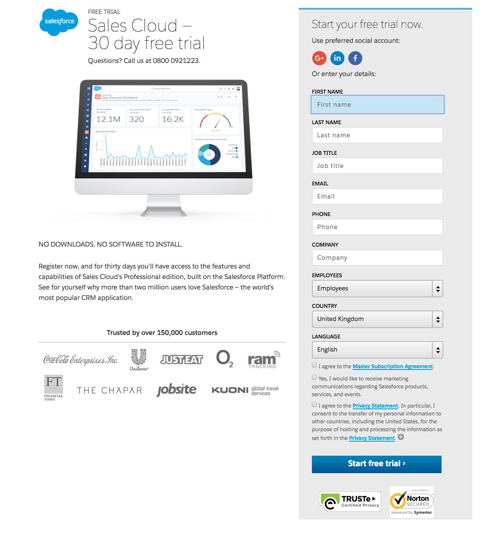 Salesforce form