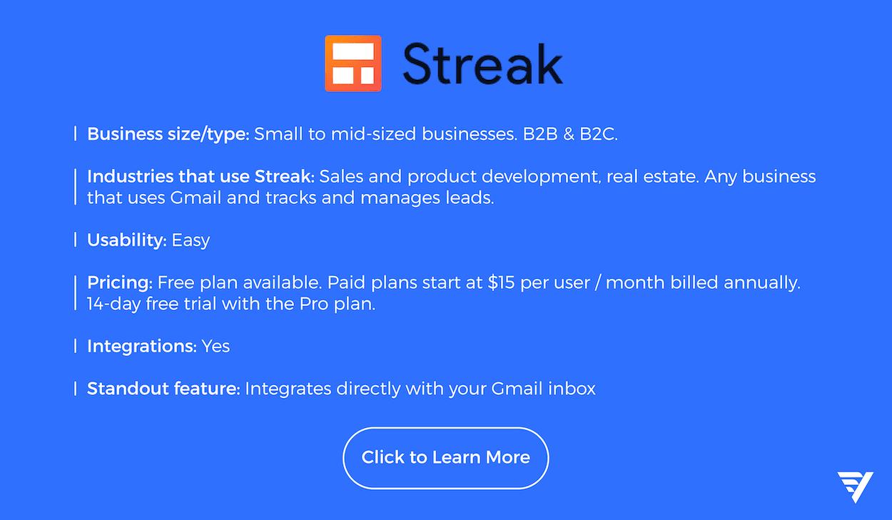 streak crm