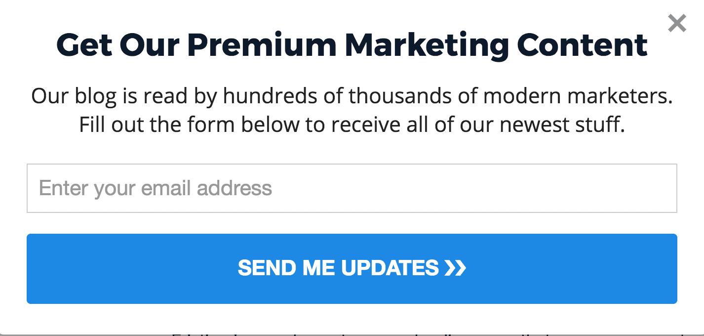 Premium marketing