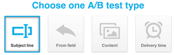 4 types of email AB test