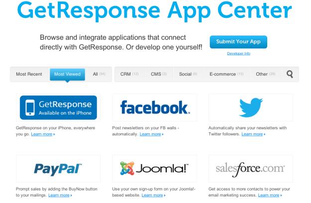 GetResponse App Centre