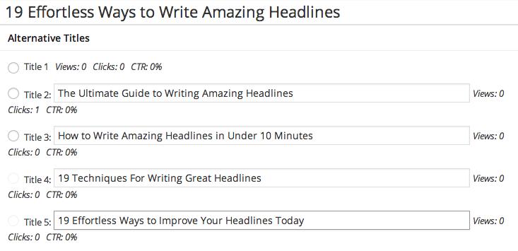 AB testing headlines