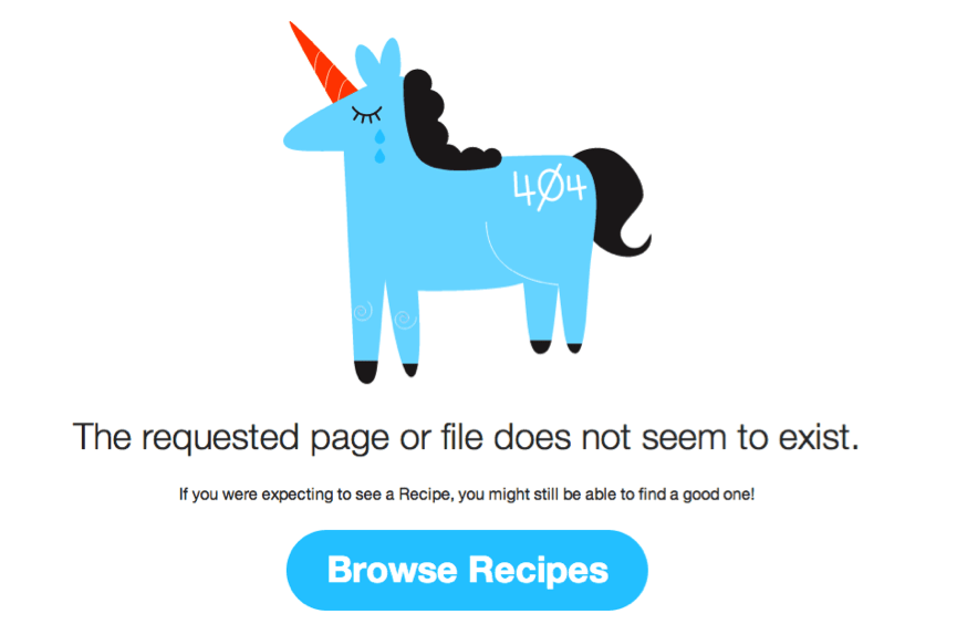 IFTTT 404 page