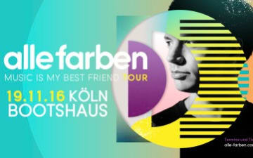Alle Farben: Music is My Best Friend Tour im Bootshaus