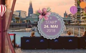 Start des Open Air Kino am Rheinauhafen am 24.05.2018