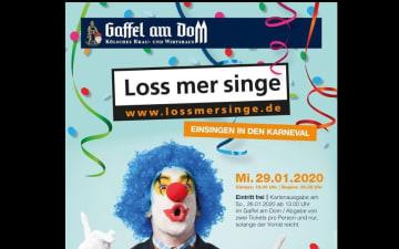 Loss mer singe - Einsingtour im Gaffel am Dom am 29.01.2020